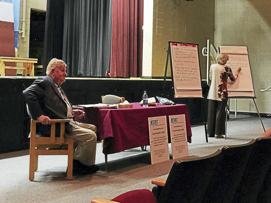 Ben Lambert - The Register CitizenTorrington residents and community members described the qualities they'd like to see in the next city Superintendent in a series of focus groups Wednesday and Thursday. Photo: Journal Register Co.