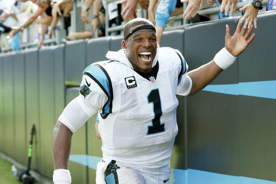 Carolina Panthers' Cam Newton (1) celebrates with fans following an NFL football game against the San Francisco 49ers in Charlotte, N.C. on Sept. 18, 2016. The Panthers won 46-27. Photo: AP Photo/Bob Leverone  / FR170480 AP