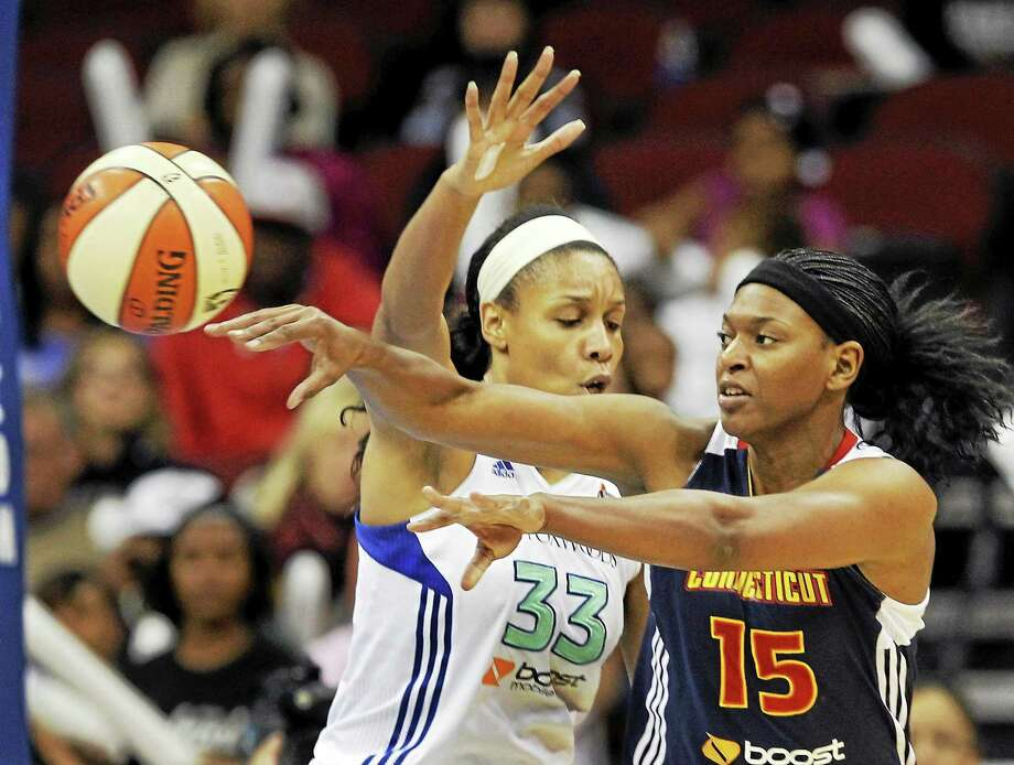 It's been all downhill for the Connecticut Sun since the 2012 season. Asjha Jones (15) was among the players cast off after coach Mike Thibault was fired. Photo: Mel Evans — The Associated Press File Photo  / AP
