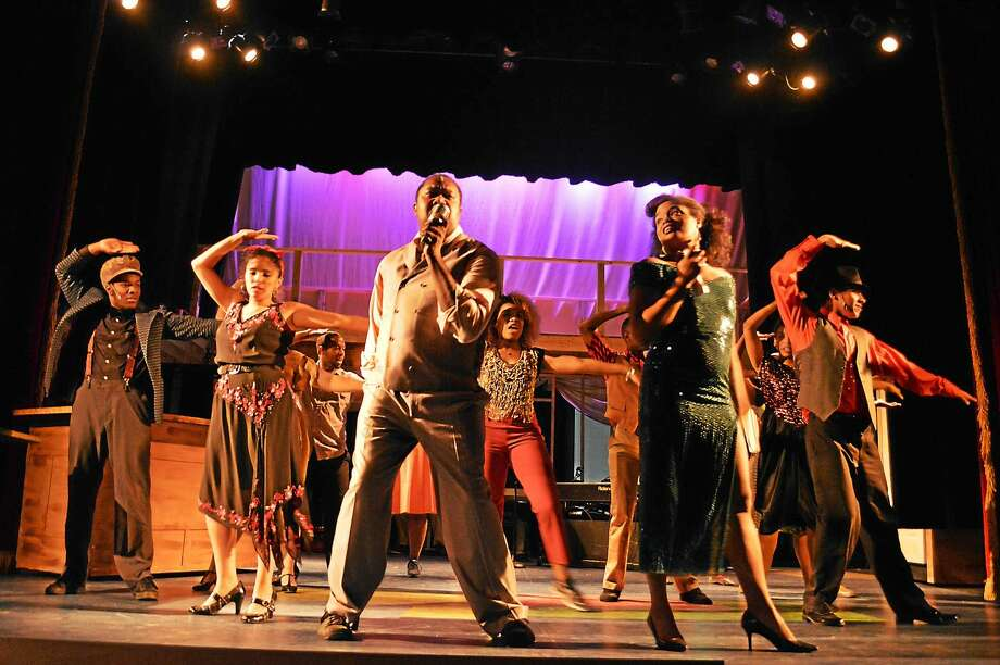 """Contributed photo - Landmark Community Theatre The cast of """"Memphis"""" is ready to open its rock 'n roll roots musical Saturday, Sept. 19. Photo: Journal Register Co."""