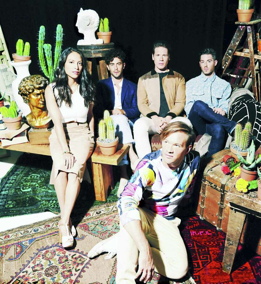 Jean-Philip Grobler, front, and the band St. Lucia. Photo: Contributed