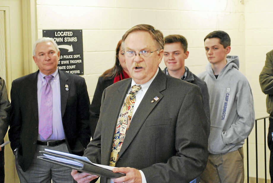 Litchfield Treasurer David Wilson announced plans to run for the 66th District seat in the state House of Representatives on Tuesday. Photo: BEN LAMBERT — The Register Citizen