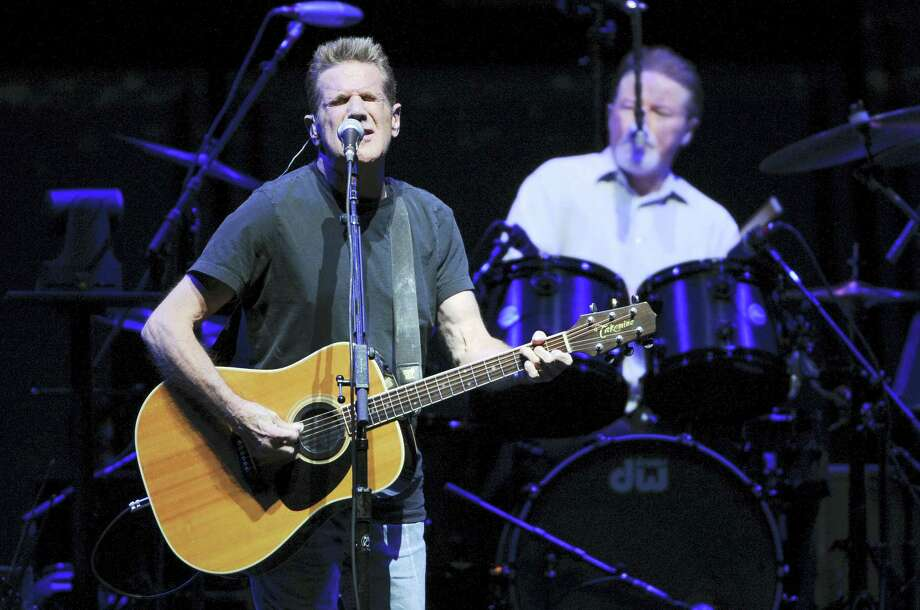 """In this Nov. 8, 2013 photo, musicians Glenn Frey, left, and Don Henley, of the Eagles, perform at Madison Square Garden in New York. Frey, who co-founded the Eagles and with Henley became one of history's most successful songwriting teams with such hits as """"Hotel California"""" and """"Life in the Fast Lane,"""" has died at age 67. He died Monday, Jan. 18, 2016 in New York. Photo: Photo By Evan Agostini/Invision/AP, File  / Invision"""