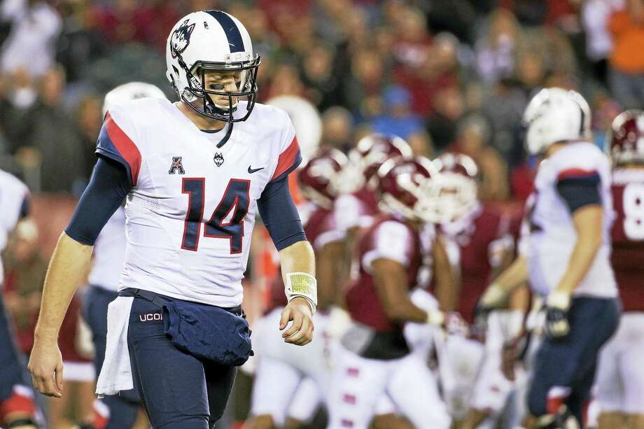 Former UConn quarterback Tim Boyle posted on Twitter that he has committed to play at Eastern Kentucky. Photo: The Associated Press File Photo  / FR170982 AP