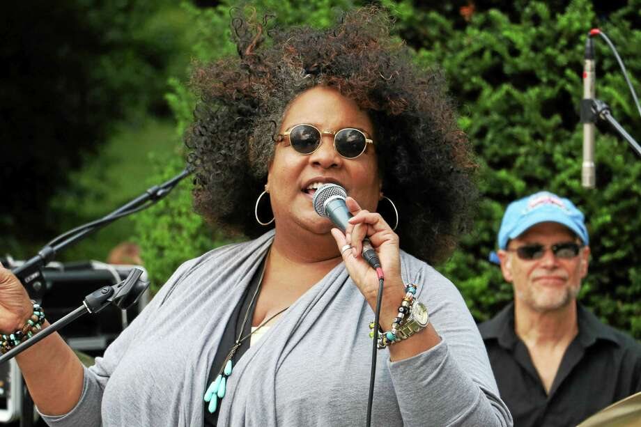 Wanda Houston, seen here at the Falls Village Street Festival, comes to Delaney Parrott Tavern on Friday, Sept. 25. Behind her is Jay Bradley. Photo: John Fitts — The Register Citizen