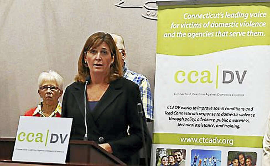 Karen Jarmoc, CEO of Connecticut Coalition Against Domestic Violence Photo: Christine Stuart Photo