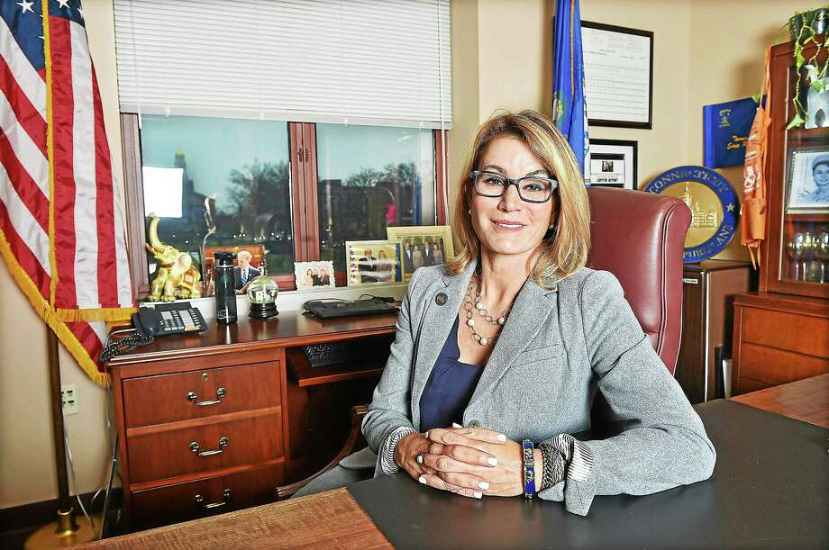 Republican Minority House Leader Themis Klarides photographed in her office at the Legislative Office Building in Hartford on December 23, 2014. Photo: Catherine Avalone--New Haven Register  / New Haven RegisterThe Middletown Press