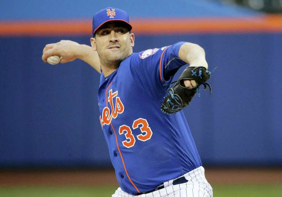 Matt Harvey delivers a pitch during the Thursday night's game against the Nationals. Photo: Frank Franklin II — The Associated Press  / Copyright 2016 The Associated Press. All rights reserved. This material may not be published, broadcast, rewritten or redistribu