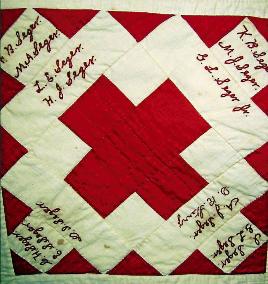 """The Kent Historical Society is excited to be the beneficiary of the Kent Quilters newest project - a """"signature quilt,"""" which will permanently preserve signatures from full- and part-time Kent residents.For a suggested minimum donation of $5 residents are able to sign a muslin square in permanent ink by Feb 15th by stopping into the Town Clerk's Office in Kent Town Hall during business hours. All proceeds are being given to the Historical Society.Once the signatures are complete, the Kent Quilters will meet at Town Hall one Saturday a month to plan and make the quilt.The Kent Historical Society's mission is to collect, preserve, interpret and present the rich history of Kent as well as to provide educational and research material to enrich the public understanding of Kent's artistic and cultural heritage.  For more information, see www.kenthistoricalsociety.org or call 860-927-4587. Photo: Journal Register Co."""