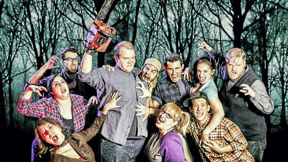 Photo by Luke Haughwøut/Mandi Martini The cast of Evil Dead: The Musical, presented by the Warner Stage Company at the Warner Theatre in Torrington, is ready to make you laugh and tremble with fear this weekend. Photo: Journal Register Co. / http://www.mandimartini.com