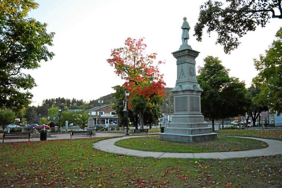 East End Park is home to several war monuments. A committee has been formed to discuss possibly changing the name to Veterans Park. Photo: Ryan Flynn — Register Citizen