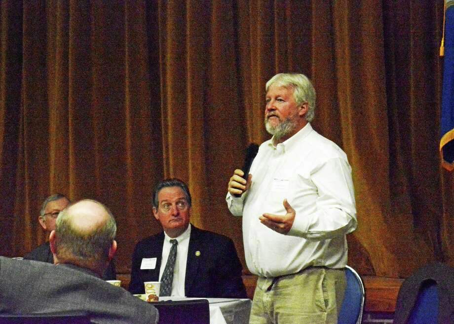 Local legislators met on Thursday to discuss priorities for the 2015 legislative session with town officials and business leaders. Photo: Kaitlin McCallum — The Register Citizen
