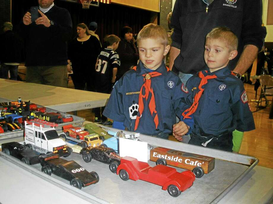 Cub Scout Pack 3 hosted its annual Pinewood Derby race Saturday at St. Peter/St. Francis School in Torrington. Photo: Stephen Underwood — Special To The Register Citizen