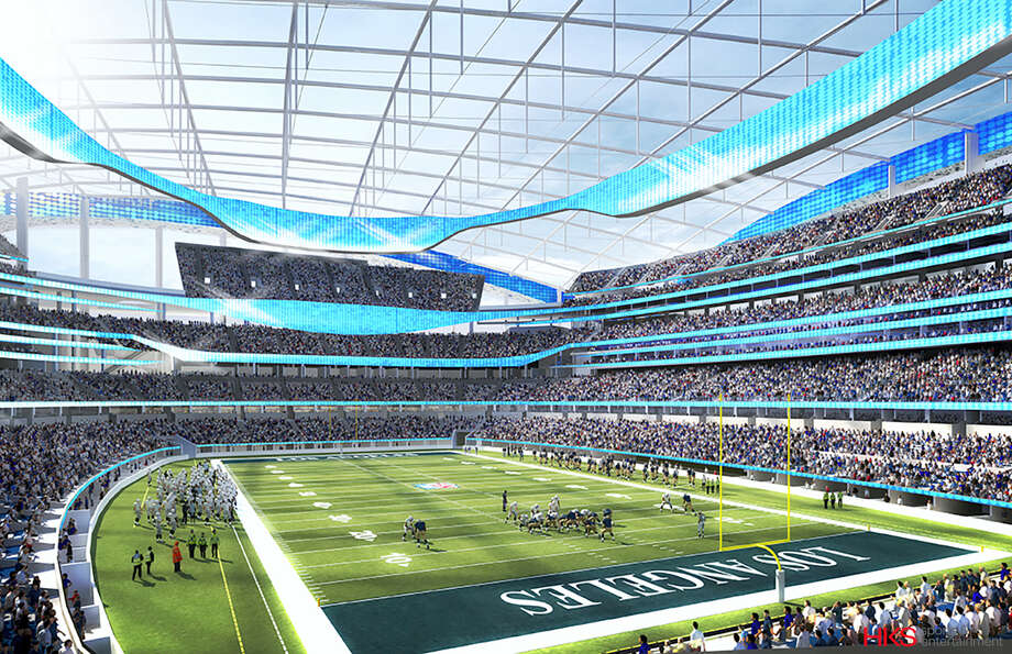 This undated rendering provided by HKS Sports & Entertainment shows a proposed NFL football stadium in Inglewood, Calif. Photo: The Associated Press File Photo  / HKS Sports & Entertainment