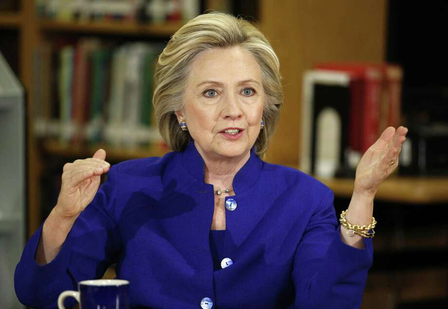 In this May 5 photo, Democratic presidential candidate Hillary Rodham Clinton speaks at an event at Rancho High School in Las Vegas. Photo: AP Photo  / AP