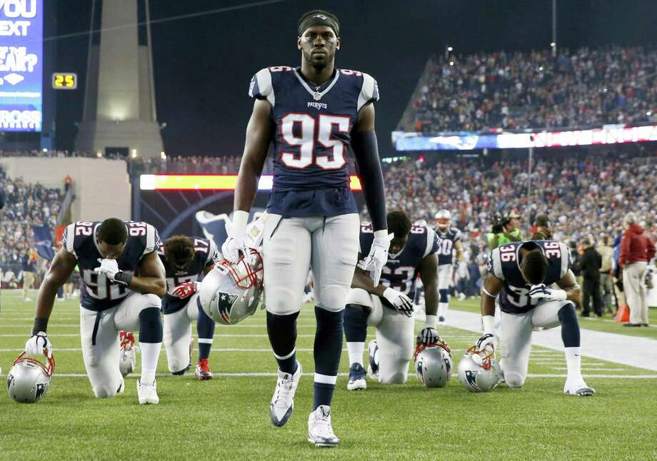Patriots coach Bill Belichick has refused to say if defensive end Chandler Jones will be benched for Saturday's game against the Chiefs. Photo: The Associated Press File Photo  / AP