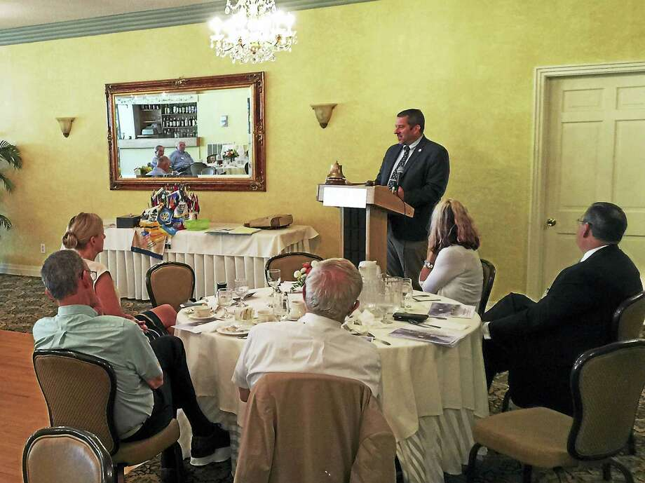 Ben Lambert - The Register CitizenRep. Jay Case addressed the Torrington-Winsted Area Rotary Club Tuesday ahead of the upcoming election. Photo: Journal Register Co.