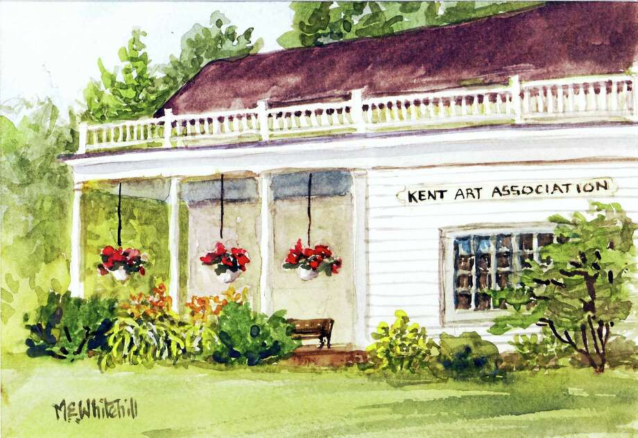Contributed photo courtesy of the artistAn artist's rendering of the Kent Art Association building on Route 7 in Kent. Photo: Journal Register Co.