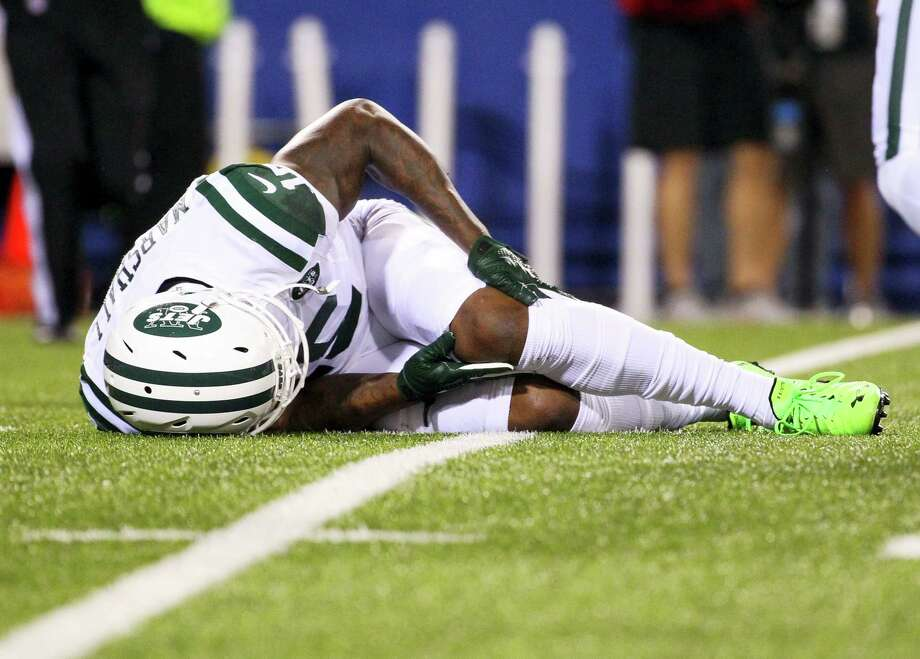 New York Jets wide receiver Brandon Marshall. Photo: Bill Wippert — The Associated Press  / FR170745 AP