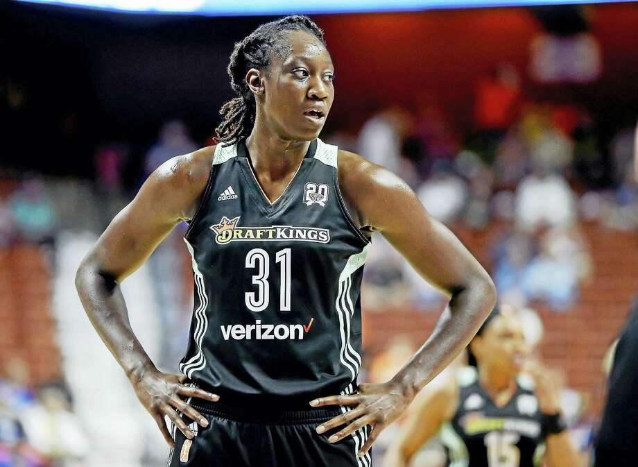 Former UConn star Tina Charles became just the second player in WNBA history to win the scoring and rebounding titles in the same season. Photo: The Associated Press File Photo  / AP2016