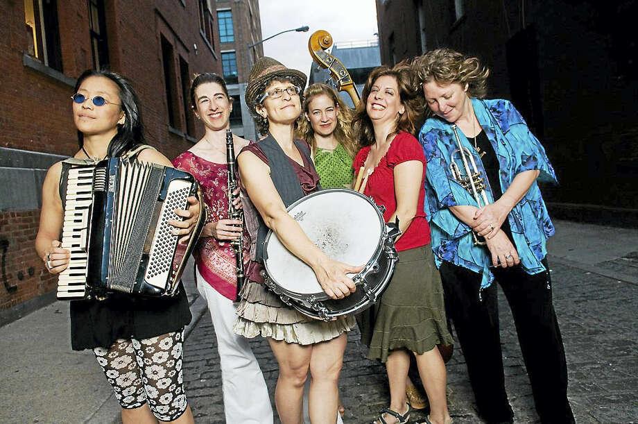 The all-woman klezmer band Isle of Klezbos at the 92Y Tribeca in New York City in 2011. Photo: Photo Courtesy Of Angela Jimenez  / Angela Jimenez Photography 2011