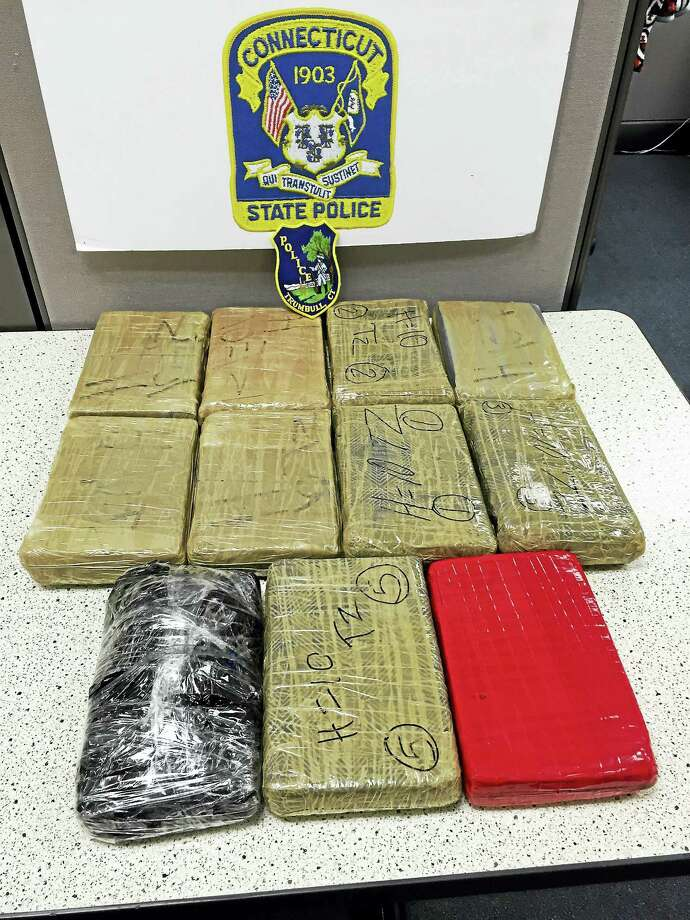 Connecticut state troopers seized about $1 million worth of heroin during a traffic stop on Route 15 in Stratford. Photo: Photo Courtesy Of Connecticut State Police