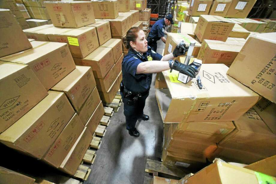 The East Coast Warehouse, holding suspected or confiscated contraband from the U.S. Customs and Border Protection in Elizabeth, New Jersey. Photo: Peter Hvizdak — New Haven Register   / ©2015 Peter Hvizdak