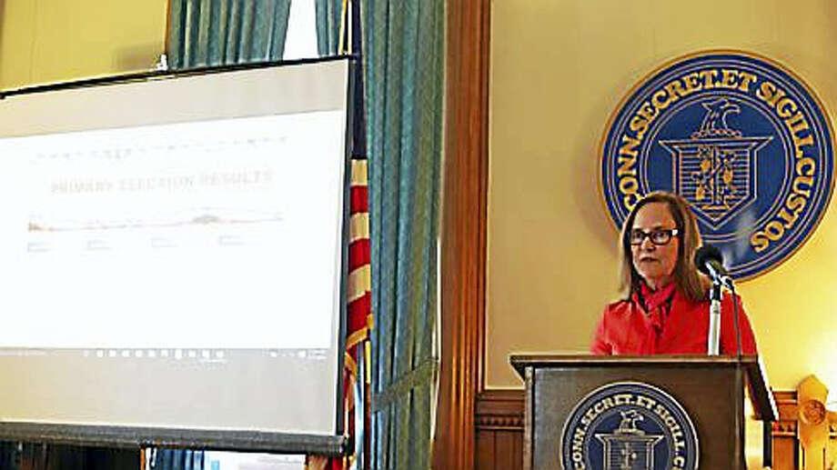 Secretary of the State Denise Merrill Photo: Christine Stuart Photo