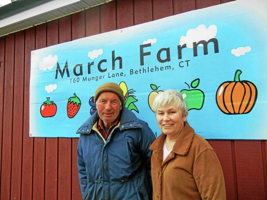 Tom and Sue March at March Farm in Bethlehem. Photo: Photo By Alice Tessier