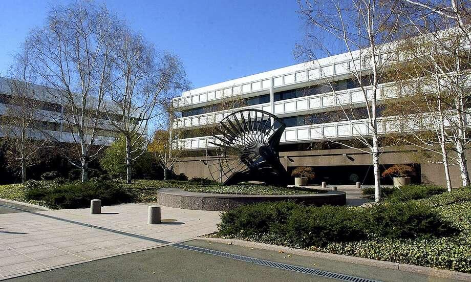 FILE - The General Electric Co. corporate headquarters campus in Fairfield. Photo: AP Photo/Bob Child, File / AP