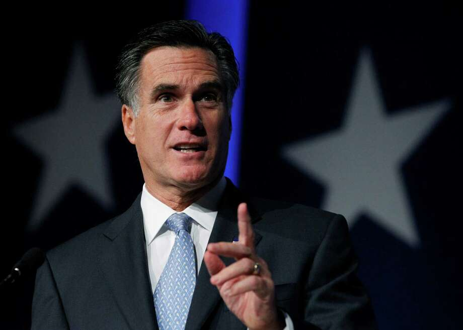 Former Massachusetts Gov. Mitt Romney, a Republican, speaks at the Values Voter Summit in Washington in this 2011 file photo. Photo: AP File Photo  / AP