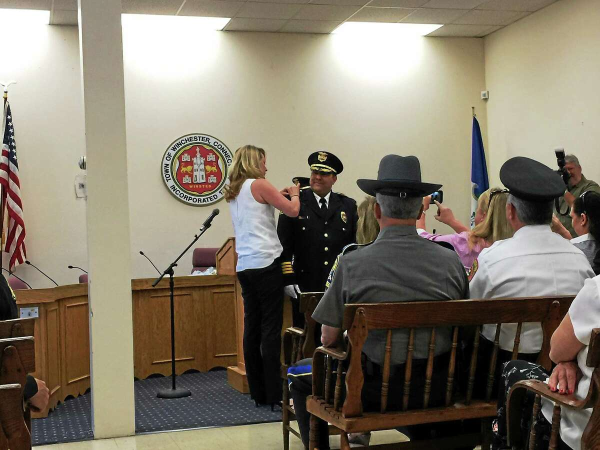 William Fitzgerald, a former lieutenant with the Newport, R.I. police department, was sworn in as the new chief of the Winchester Police Department Thursday.