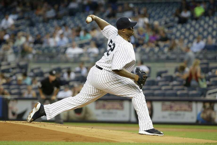 New York Yankees' CC Sabathia delivers a pitch during the first inning of a baseball game against the Baltimore Orioles Wednesday in New York. Photo: Frank Franklin II — The Associated Press  / AP