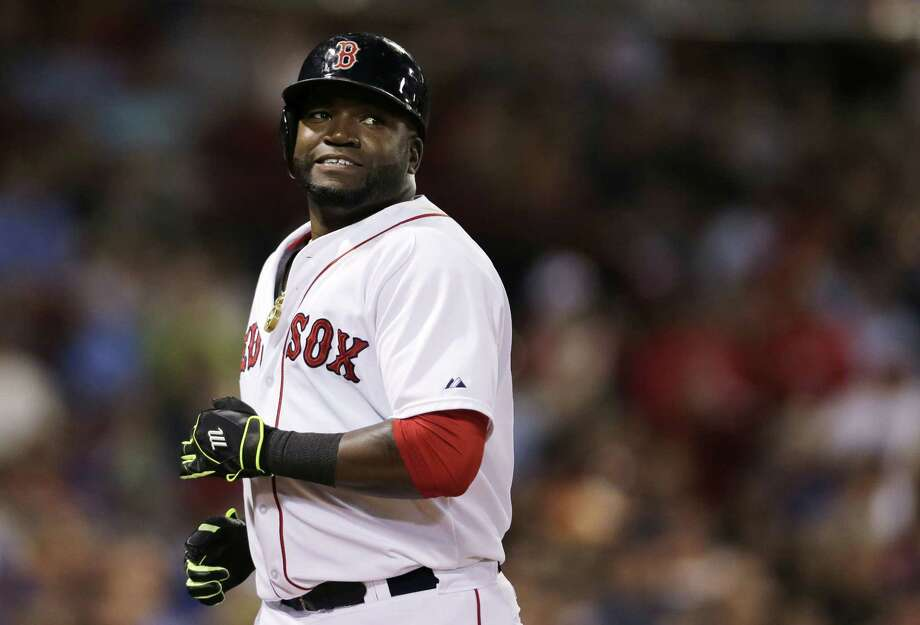 Boston Red Sox designated hitter David Ortiz heads to the dugout during a baseball game at Fenway Park in Boston, Wednesday, Sept. 9, 2015. (AP Photo/Charles Krupa) Photo: AP / AP