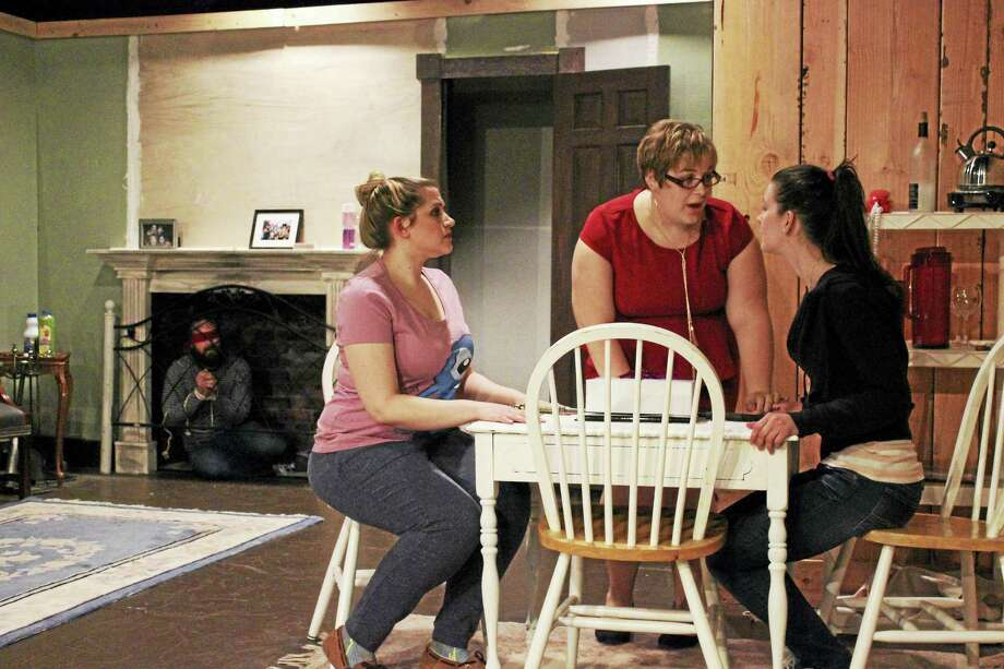 """Photo courtesy of Backyard Theater EnsembleA scene from the riveting play, """"Extremities"""" being staged by the Backyard Theater Ensemble at the Thomaston Opera House. Photo: Journal Register Co."""