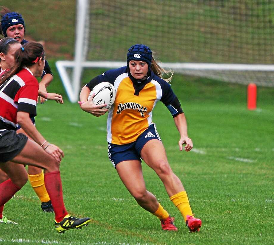 Natalie Kosko, who just wrapped up her junior year at Quinnipiac, is trying out for the 2016 United States Olympic rugby team. Photo: Photo Courtesy Of Quinnipiac Athletics