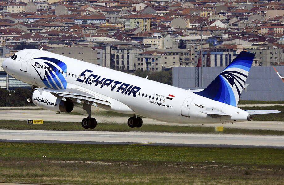 An EgyptAir Airbus A320 with the registration SU-GCC taking off from Istanbul Atatürk Airport, Turkey. Photo: AP Photo — Ahmet Akin Diler / Ahmet Akin Diler