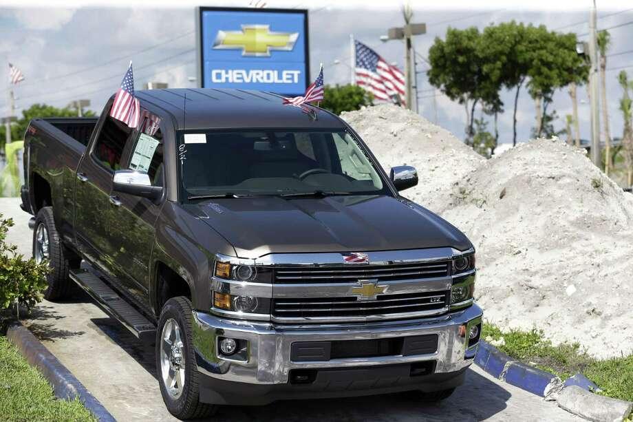 A 2015 Chevrolet Silverado 2500 4WD LTZ Crew Cab pickup truck at Miami Lakes AutoMall in Miami Lakes, Fla. Photo: Wilfredo Lee — The Associated Press  / AP