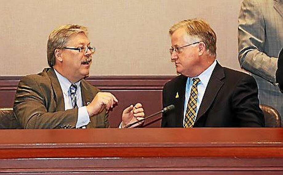 COST President John Elsesser and House Speaker Brendan Sharkey. Photo: ELIZABETH REGAN, CTNewsJunkie