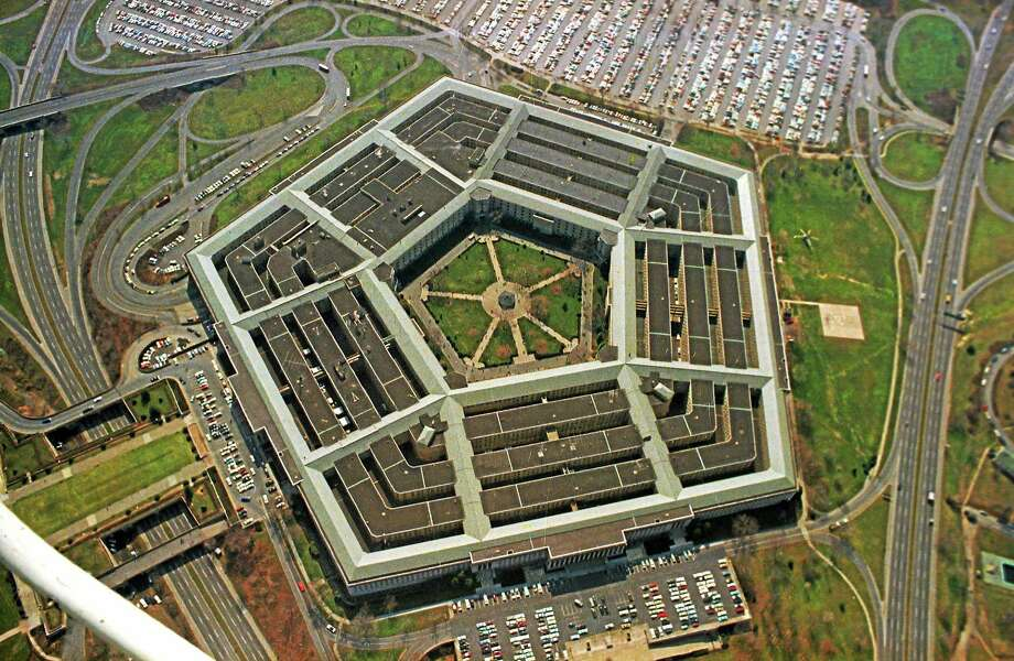 An aerial view of the five-sided Pentagon building, headquarters of the United States Department of Defense, in Arlington, Va. Photo: AP Photo  / 1975 AP