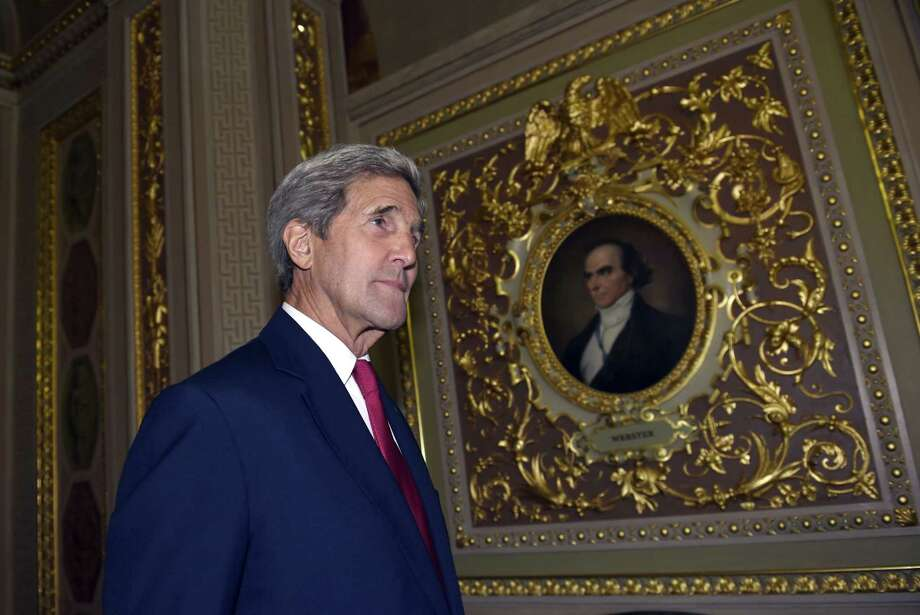 John Kerry arrives for a meeting on Capitol Hill in Washington, Wednesday, Sept. 9, 2015, on the escalating migrant crisis. Kerry plans to brief members of the House and Senate Judiciary committees on Wednesday about how many Syrian refugees the U.S. is willing to take in. Photo: AP Photo/Susan Walsh Secretary Of State   / AP