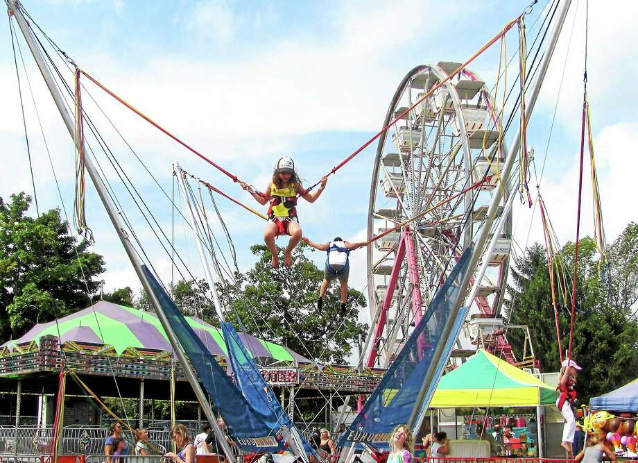 Children enjoy some of the rides at the 90th annual Bethlehem Fair last year. Photo: Register Citizen File Photo