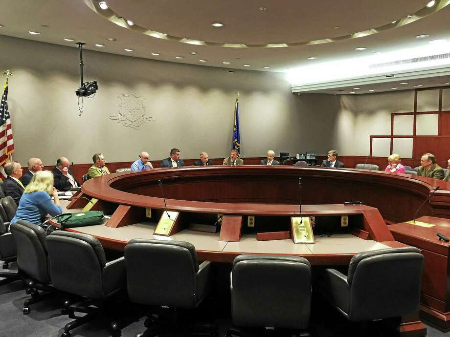 Members of the Northwest Hills Council of Governments met in Hartford on May 6. Photo: Ben Lambert — The Register Citizen