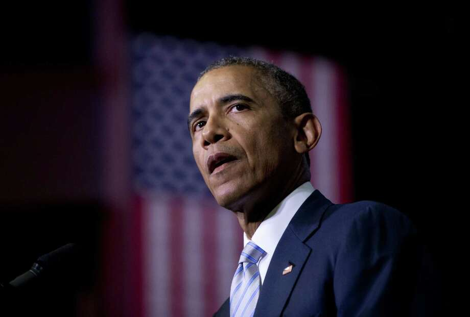 This Jan. 9, 2015 photo shows President Barack Obama speaking about the France newspaper attack. Photo: AP Photo/Carolyn Kaster, File  / AP