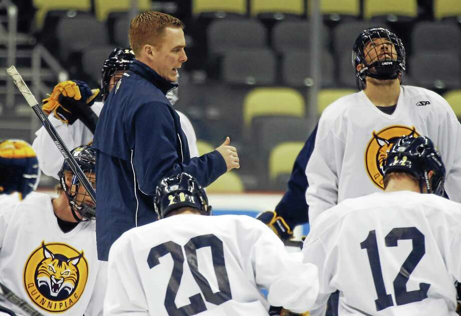 Quinnipiac coach Rand Pecknold is bringing in six more recruits from the British Columbia Hockey League. Photo: Keith Srakocic — The Associated Press File Photo  / AP