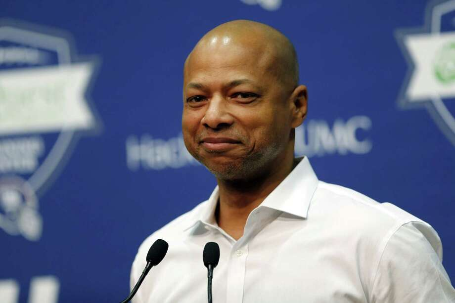 New York Giants general manager Jerry Reese speaks during a news conference on April 23 in East Rutherford, N.J. Photo: Julio Cortez — The Associated Press  / AP
