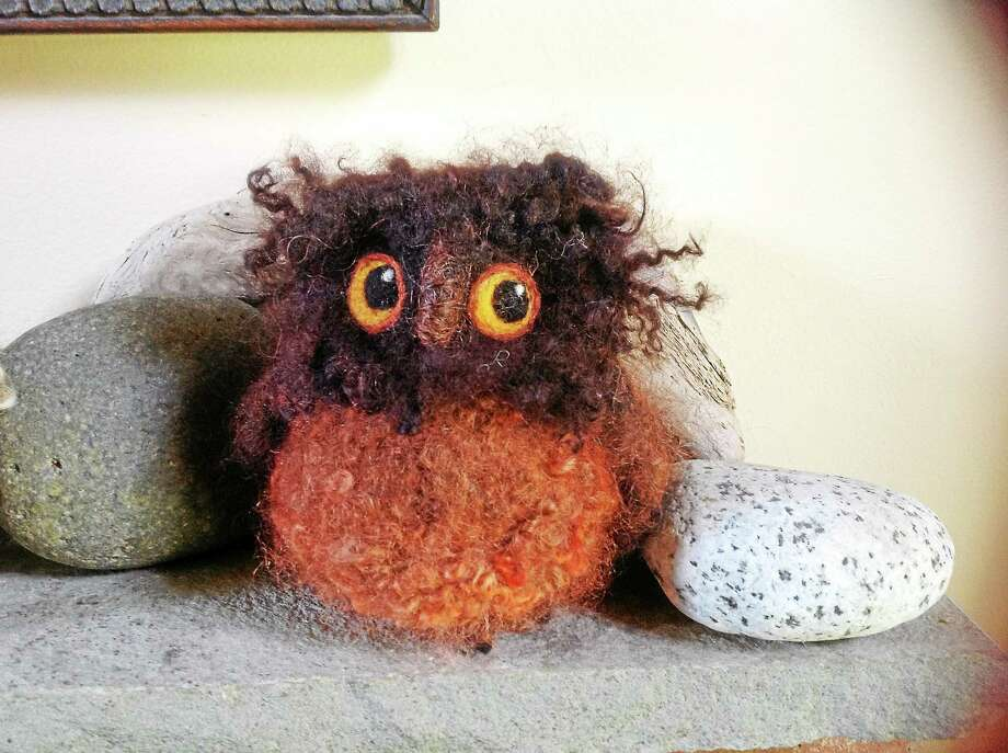 Submitted photo Felting workshops will be held at Flanders Nature Center on Thursday, Jan. 15 at 7 p.m. in the South Farm House. Owls are the featured kit with a variety of sizes to choose. The cost is $45 for large owl, $35 for medium owl, and $25 for small owls. Hedgehogs will be the featured kit at the next class, to be held Thursday, Feb. 19 at 7 p.m.  People also have the option of choosing from a large variety of other available kits ranging in price from $15 to $35. Participants can save $5 if they bring their own needles and foam.  For $10 bring your own project to class and receive guidance and support on it. To learn more or register for the programs call 203-263-3711 Ext. 10. Photo: Journal Register Co.