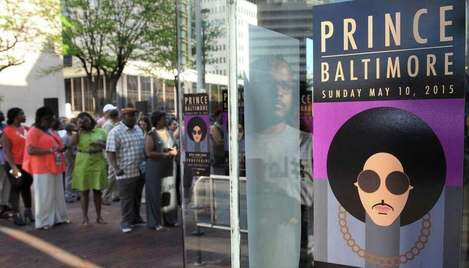 Fans line up outside Royal Farms Arena before Prince's Baltimore concert Sunday, May 10, 2015. Photo: Jerry Jackson/The Baltimore Sun Via AP  / The Baltimore Sun