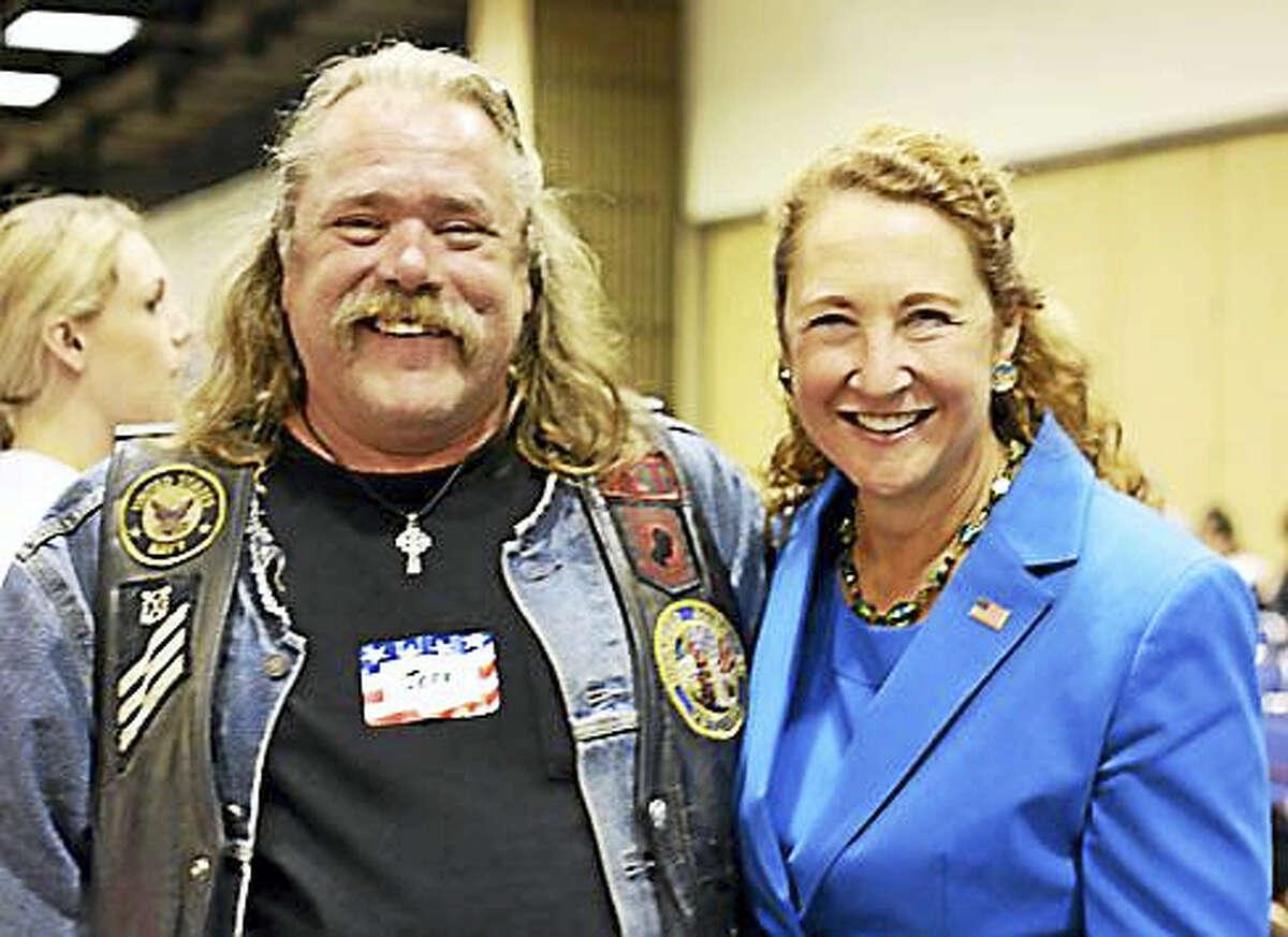 Jeff Lawton and U.S. Rep. Elizabeth Esty