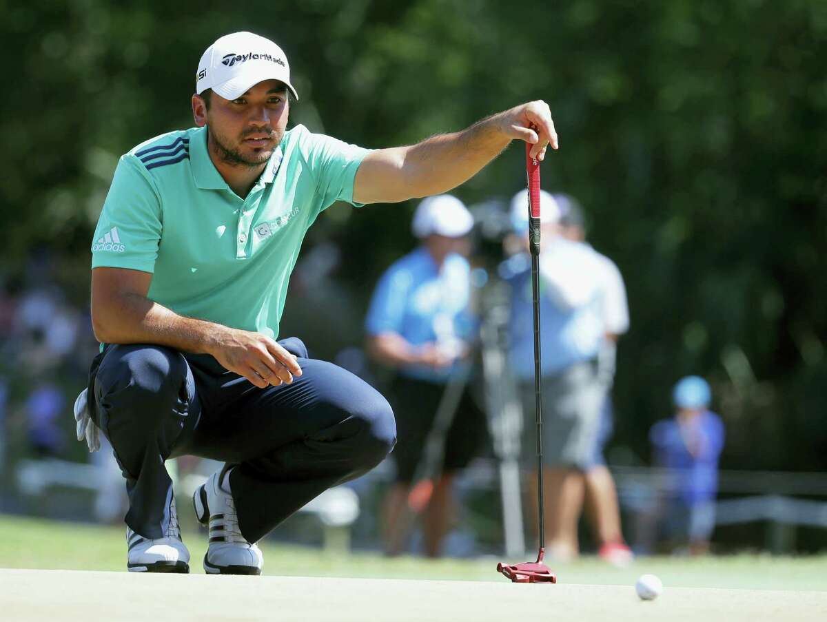 Jason Day looks at his shot on the sixth green during the third round of The Players Championship on Saturday.